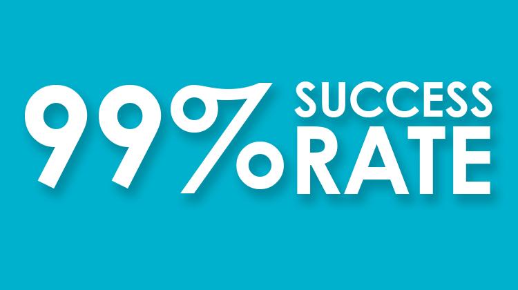 99 percent success rate