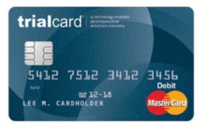 A TrialCard branded MasterCard can simplify trial management for sponsors