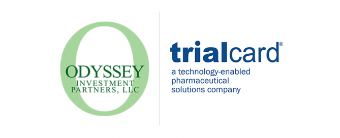 The Odyssey Investment Partners and TrialCard logos
