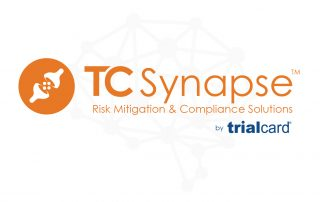 The TC Synapse Risk Mitigation and Compliance Solutions logo with TrialCard