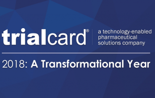"A header image with the TrialCard logo and the words ""2018: A Transformational Year"""