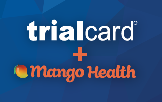 TrialCard logo plus Mango Health logo